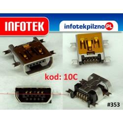 Gniazdo złącze mini USB 10 Pin miniUsb