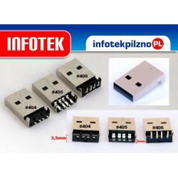 Wtyk montażowy USB typ A do montażu 3 rodzaje