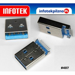 Wtyk montażowy USB 3.0 typ A do montażu