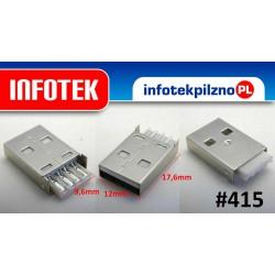 Gniazdo port USB 2.0 20 mm długie