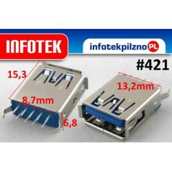 Gniazdo port USB 3.0 Laptop 15 mm pionowe
